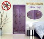 tirai taiwan jahit bunga sakura ungu
